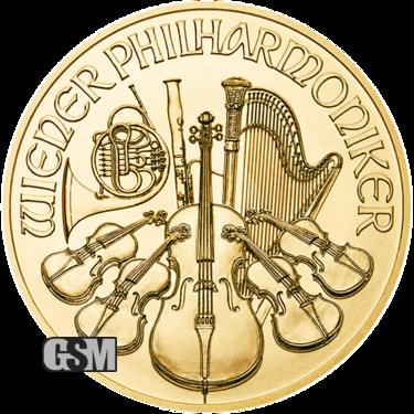 2020 1 oz Austrian Gold Philharmonic