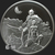 2 oz Swordsman of Mars Frazetta collection BU Silver .999 Fine Obverse