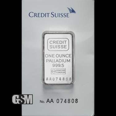 1 oz Palladium Credit Suisse
