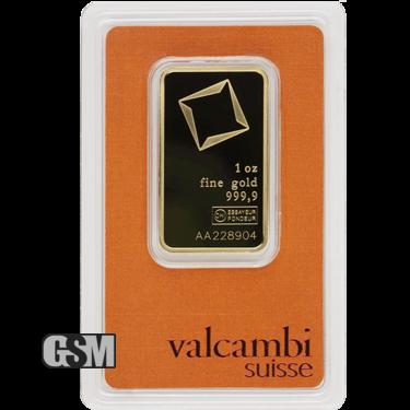 1 oz Gold Bar Valcambi