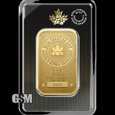 1 oz Gold Bar Rcm
