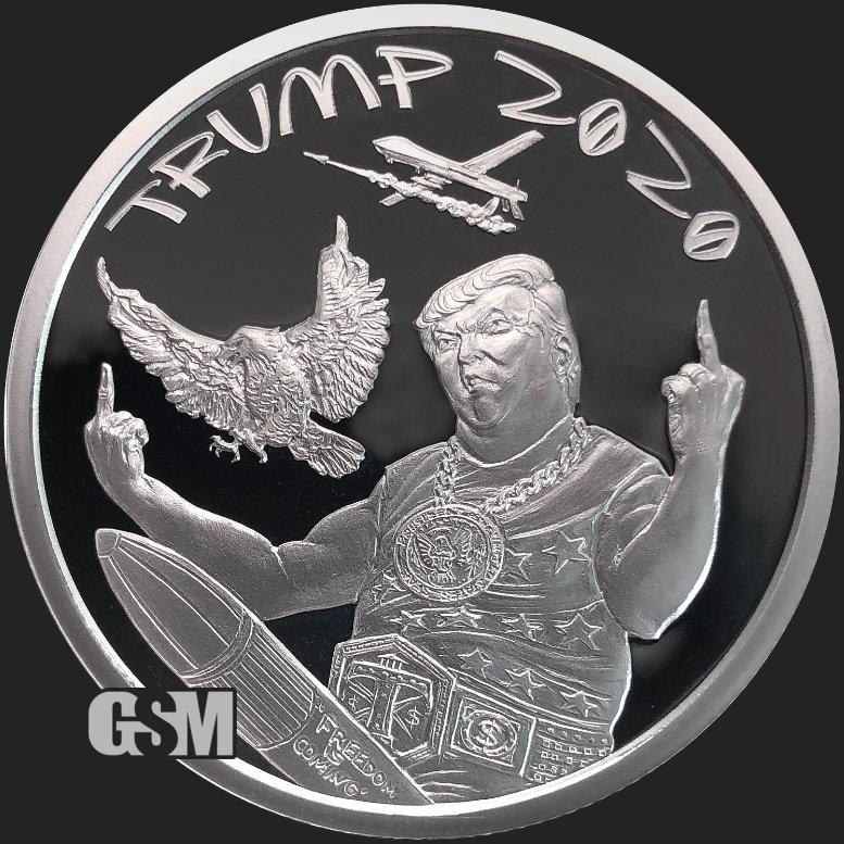 Trump Set of 5 1 oz .999 Copper Rounds Read for Designs