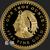 1 oz Aztec Calendar Gold bullion round .999 fine obverse