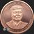 2 oz Copper Donald John Trump .999 fine round Obverse